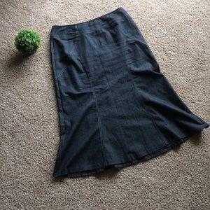 Dresses & Skirts - Long Modest Denim Jean Flare Skirt Plus Size 16W
